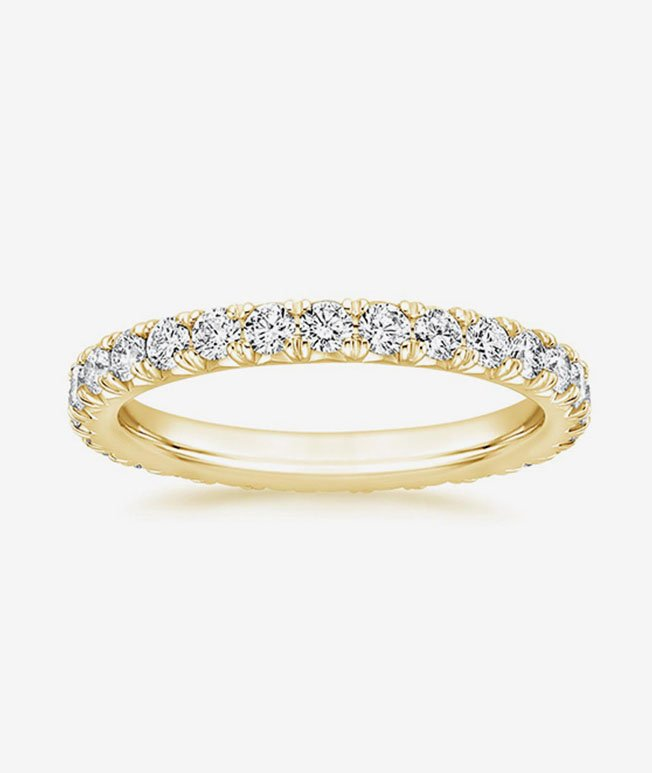 1 Year - Yellow gold diamond eternity ring