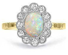 halo diamond engagement rings - Estate Wedding Rings