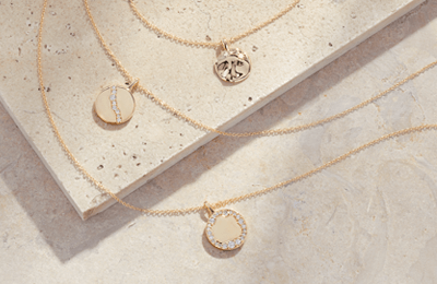 Fairmined yellow gold diamond necklaces